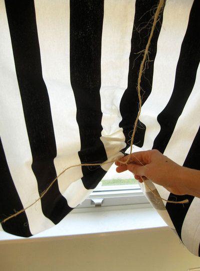 римські штори на зав'язках своїми руками