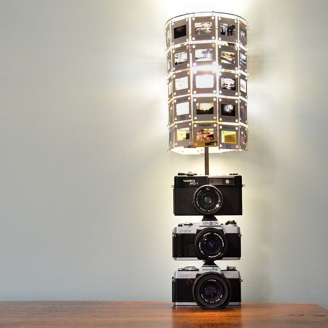 a lamp with your hands from cameras and slides