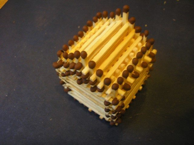 How to make a house of matches with your own hands step by step instruction.