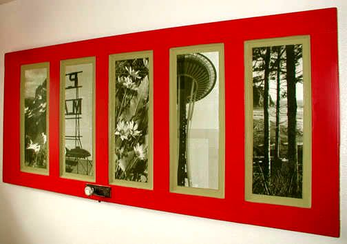 door as a frame for photos