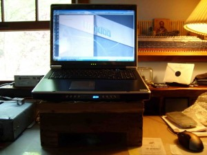 Implement additional cooling on the laptop.