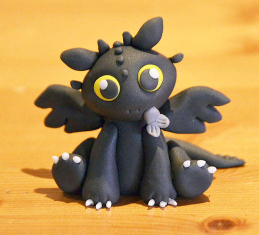 dragon toothless clay
