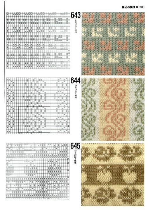 Gran mundo de los patrones de dos colores para hacer punto