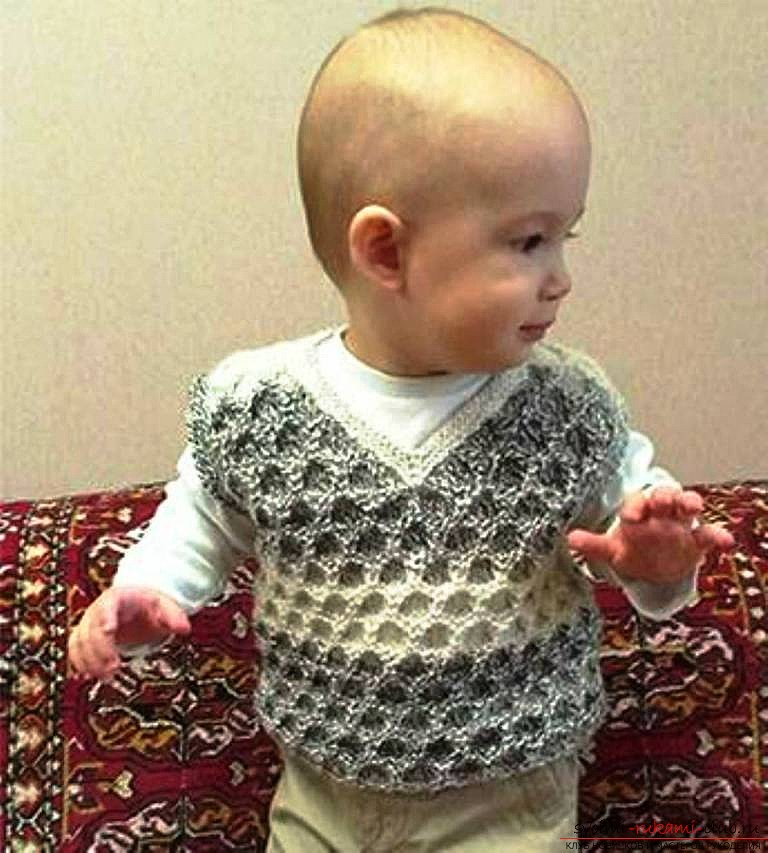 knitted children's vest. Photo №7