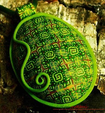 We make a pendant made of polymer clay. Photo №1