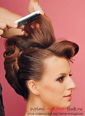 How to make an interesting wedding hairstyle for medium hair with your own hands. Photo Number 14