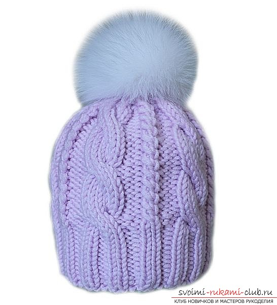 How to tie an original winter hat with buttons. Knitting pattern, professional recommendations and tips for knitting a beautiful and warm female hat. Photo №1