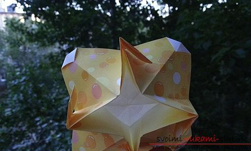 Simple schemes of origami flowers. Picture №3