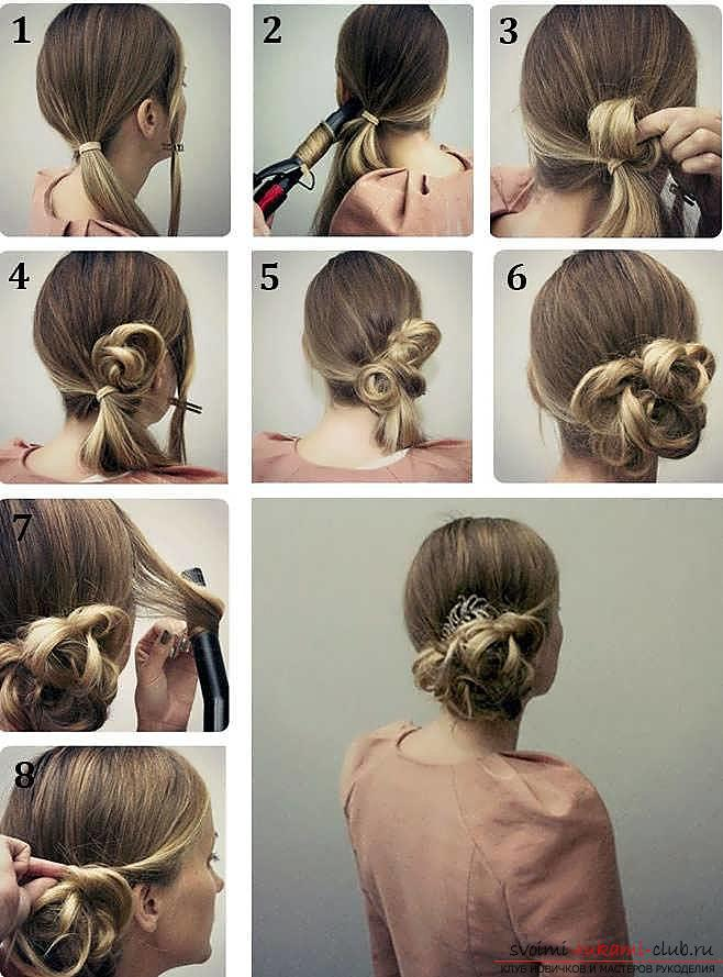 We learn to make fast and beautiful hairstyles with our own hands with a photo. Photo №6