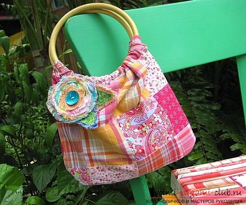 How to sew a summer bag of cloth with your own hands. Photo №1