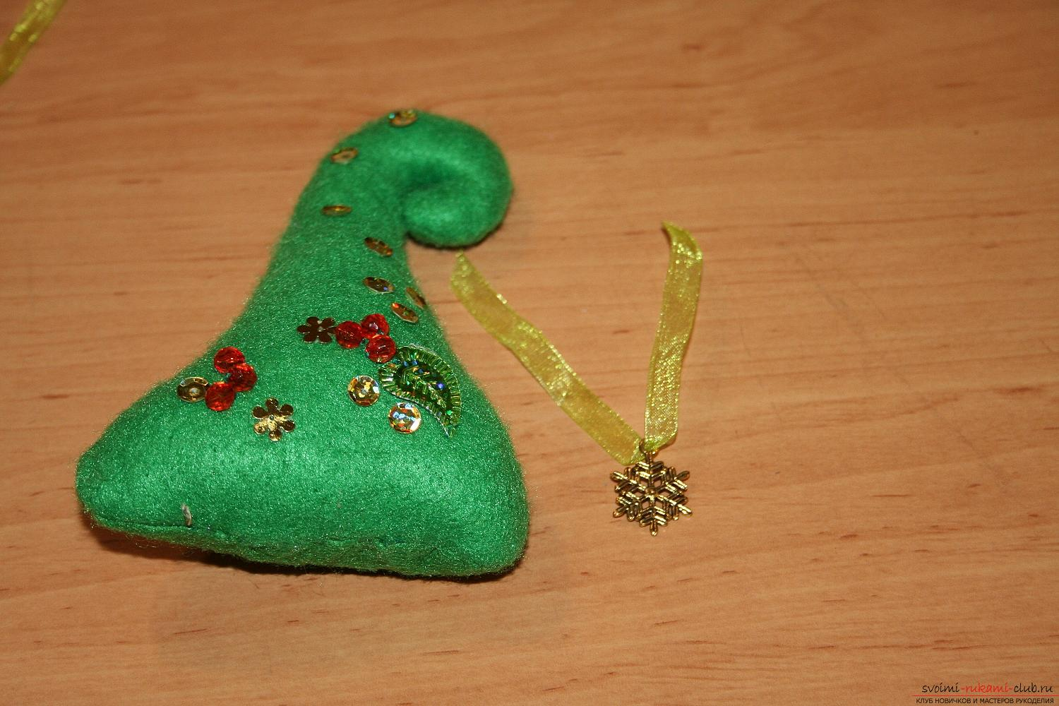 Master class with a photo of the hand-made Christmas tree will teach you how to make it yourself. Photo Number 14