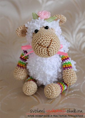 We knit a sheep with our own hands. Photo number 12