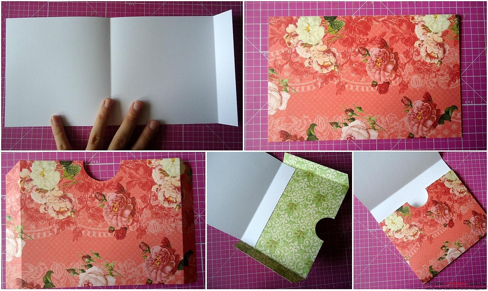 Пионами днем, как сделать папку для открыток