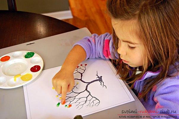 Unconventional drawing techniques for children 2 - 3 years. Photo # 2