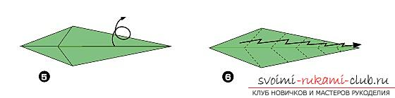 How to fold a nicely napkin or hand-made paper in origami technique, schemes for children of 8 years old. Photo # 26