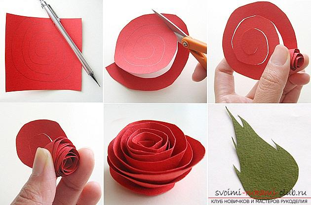 Flowers with their own hands, how to make a flower of paper with their own hands, flowers from corrugated paper, tips, recommendations, step by step execution instruction .. Photo # 2
