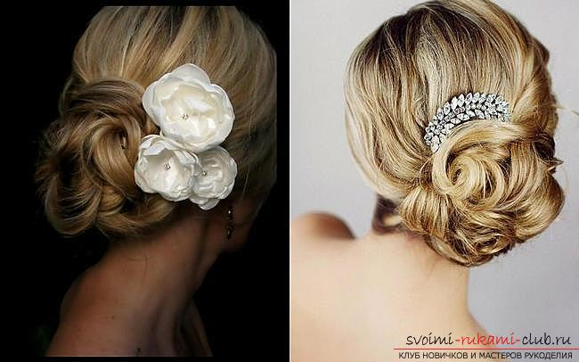 Various options for evening hairstyles on medium hair, tips for creating them and visual examples .. Photo # 6