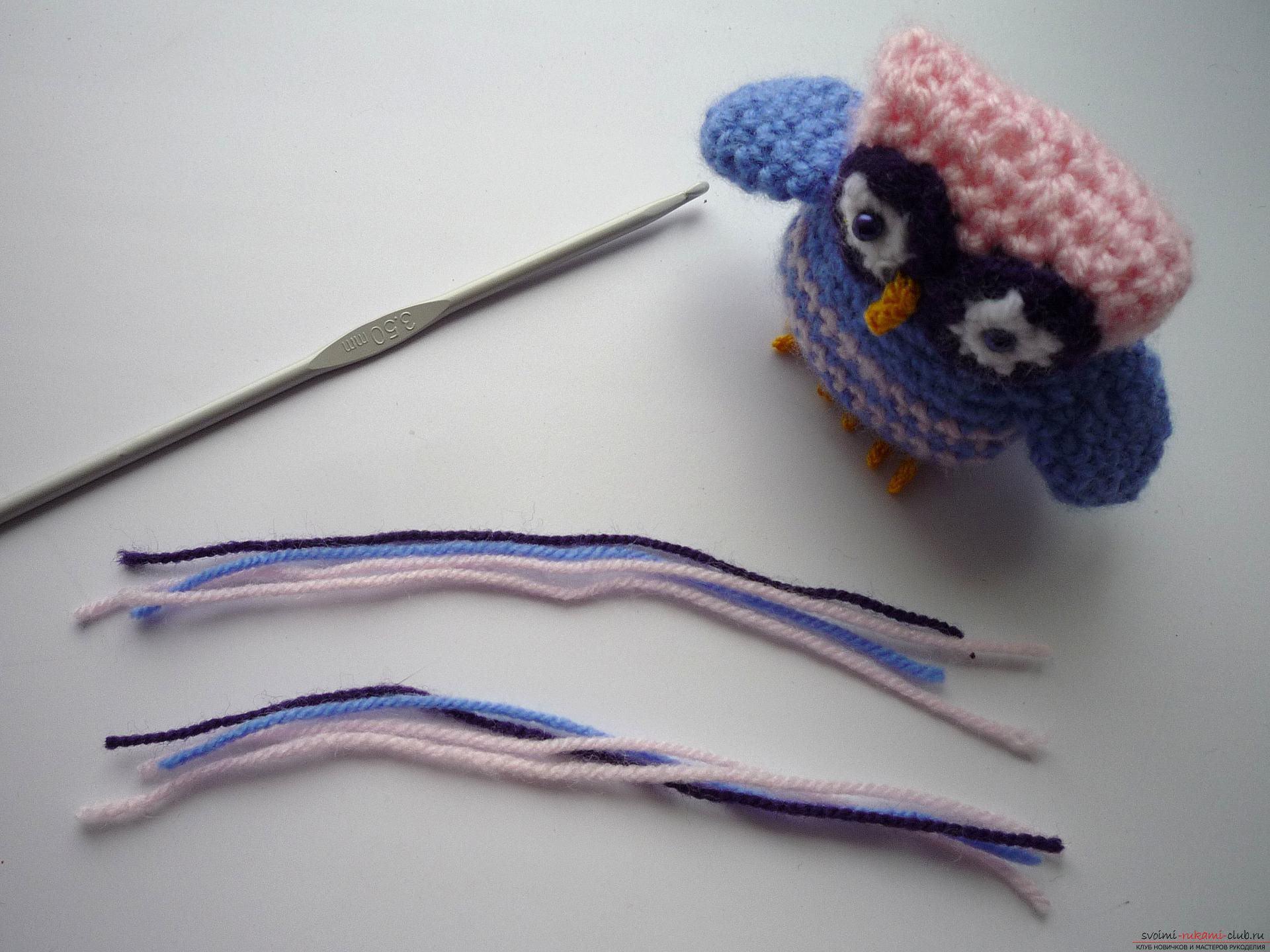 A detailed master-class will teach how to crochet a toy - an amenity in the amigurumi style. Photo number 16