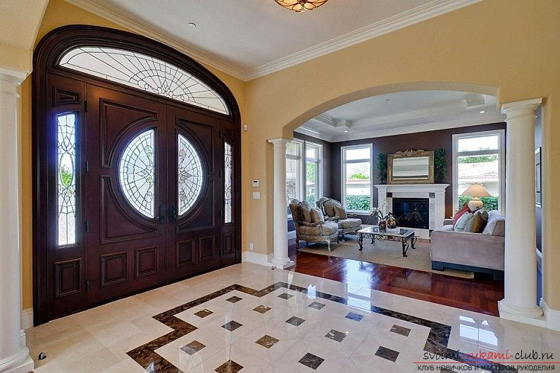 Tile on the floor, how to lay ceramic tiles on the floor with their own hands, original floor design options .. Photo # 6