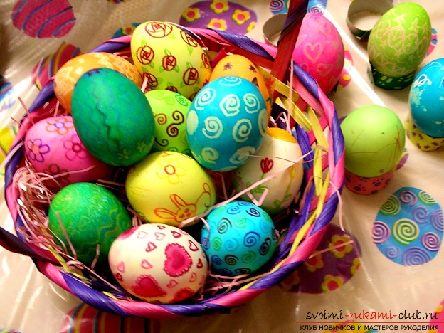 How to paint Easter eggs. Photo №1