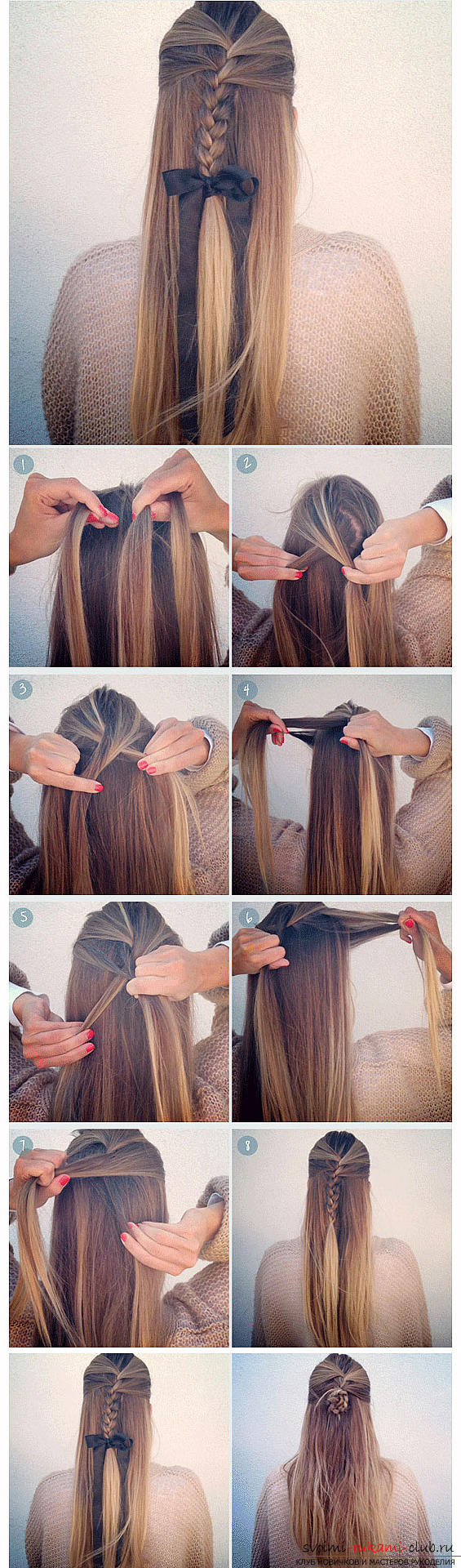 Tips and advice on creating original hairstyles in school for 5 minutes with your own hands .. Photo # 2