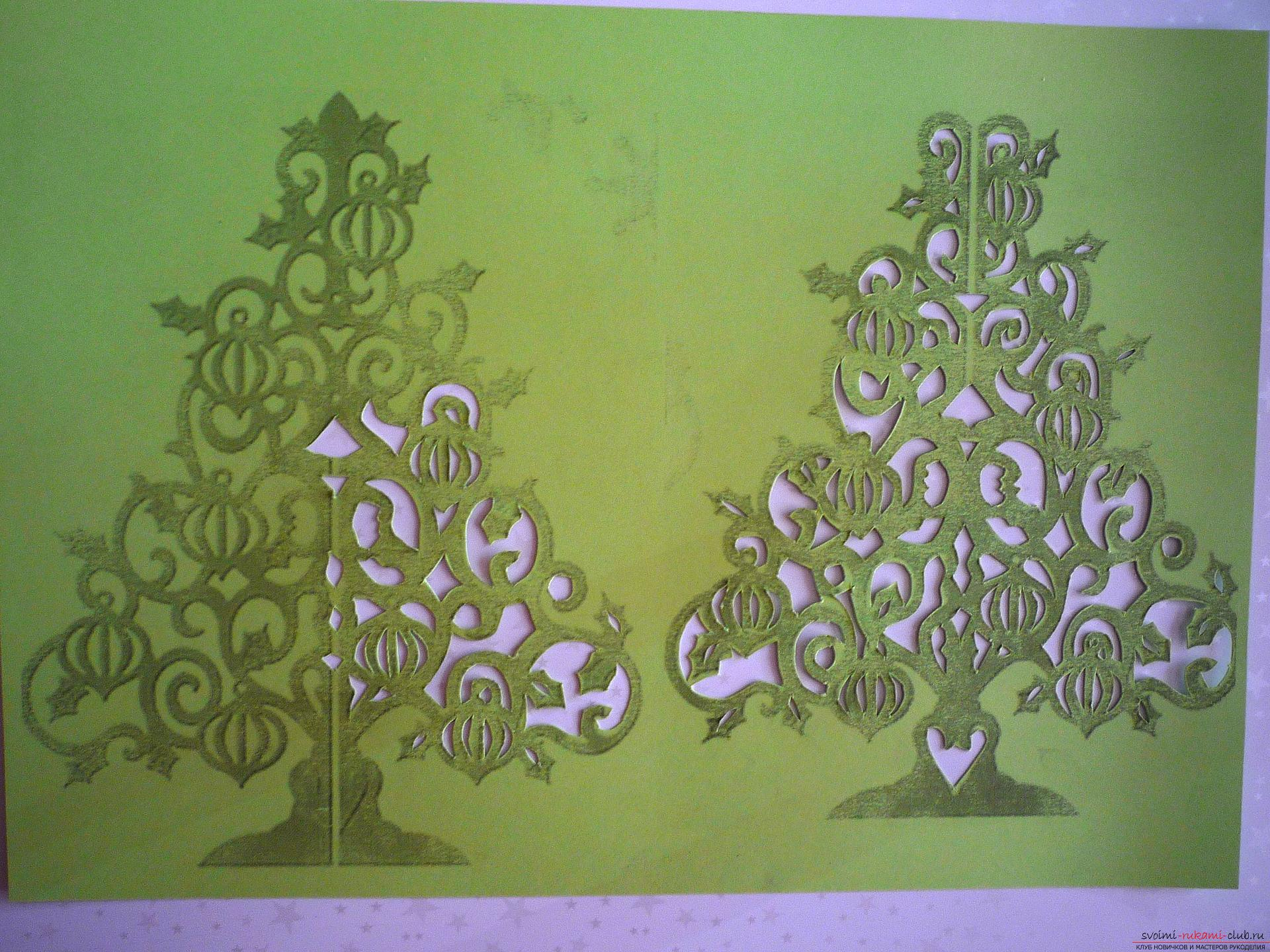 The master class will teach you how to make your own hands a New Year's 3D Christmas tree made of paper. Picture №3