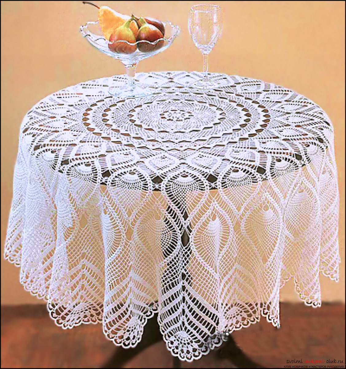 Crochet crocheted tablecloth for the kitchen. Photo №1
