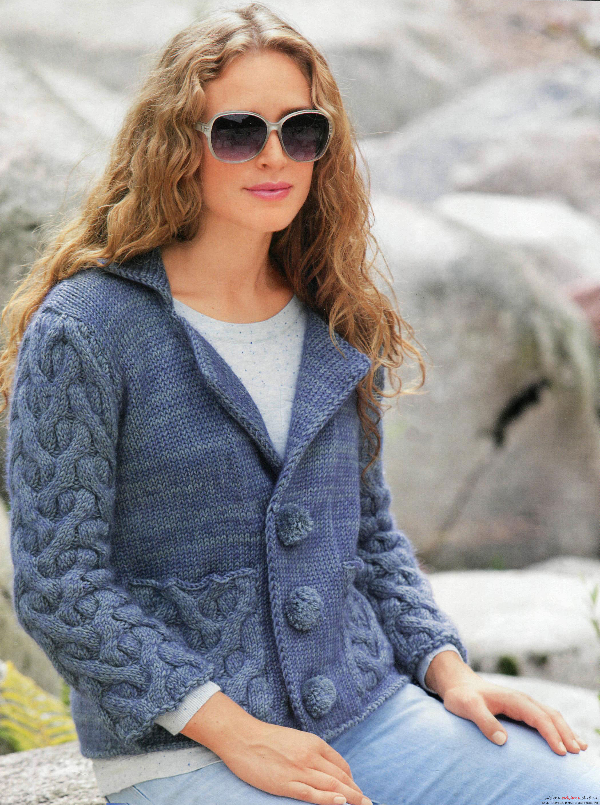 knitted knitted cardigan
