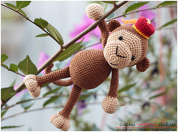 Master class on crocheting monkey amigurumi Abu with his hands with a detailed description. Photo №6