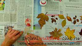 Autumn crafts with your own hands from the leaves. Picture №3