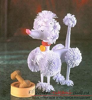 The lesson of creating a poodle with the help of quilling techniques for beginners is a master class. Photo №1