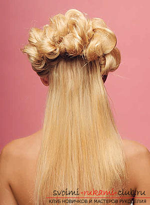 How to make an interesting wedding hairstyle for medium hair with your own hands. Photo №32