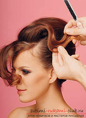 How to make an interesting wedding hairstyle for medium hair with your own hands. Photo №29