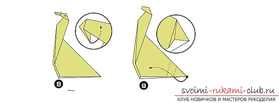 Schemes and description of the creation of paper crafts to the origami technique for children 6 years of age .. Photo # 17