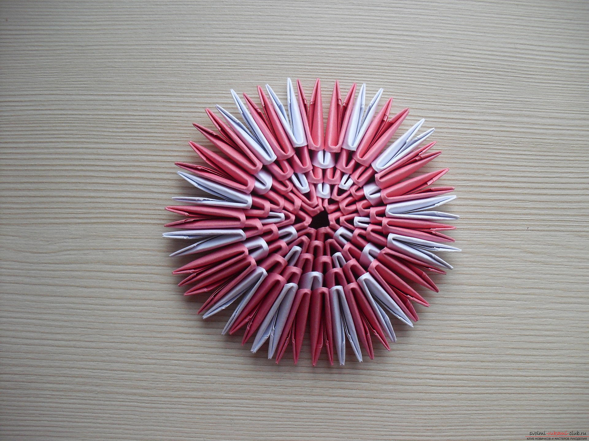 This master class will teach how to make a modular origami - a fly agaric mushroom .. Photo # 8