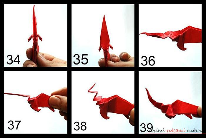 Просте орігамі міфічного дракончика. фото №7