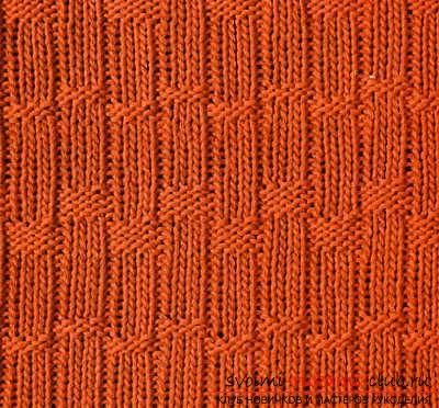 We create simple patterns with knitting needles, patterns of simple patterns and patterns with patterns. Photo №5