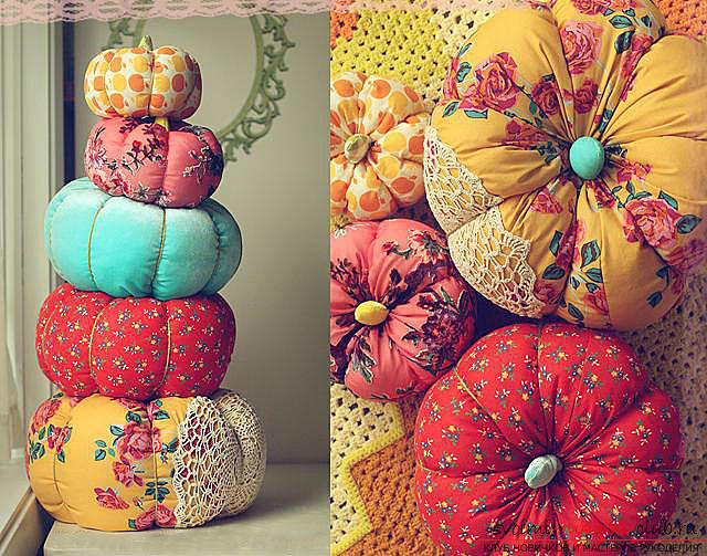 Festive decorations with their own hands, tips and recommendations for making pumpkin from fabric .. Photo # 1