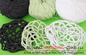 A beautiful and simple hair net for crocheting. Picture №3