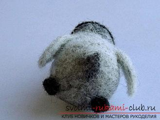 How to make a New Year gift on the felting technique ?. Photo №7
