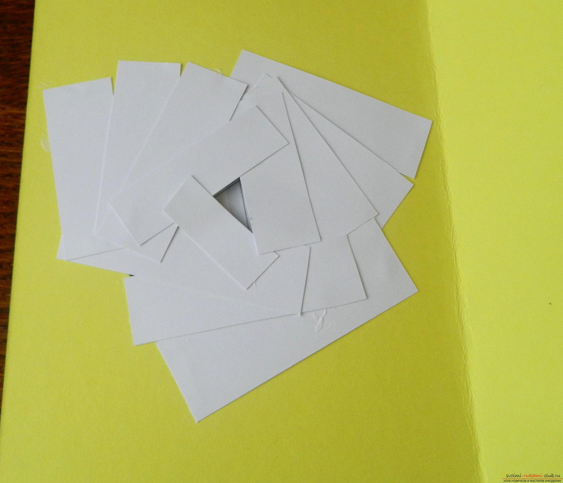 This master class will teach you how to make a card with your own hands in the style of ayris folding .. Photo # 10
