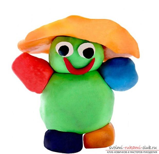 Molding of plasticine for children from 1.5 years. The initial stages of sculpting crafts from plasticine. Photo №1