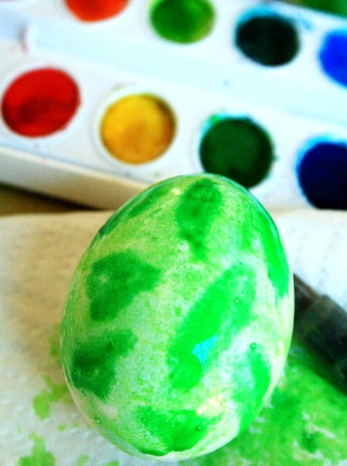 master-class painting of Easter eggs in watercolor