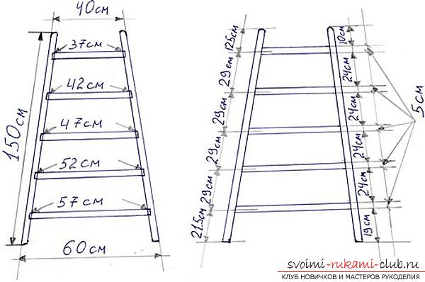 Assembly of a ladder made of wood with your own hands is a step-by-step instruction. Photo # 2