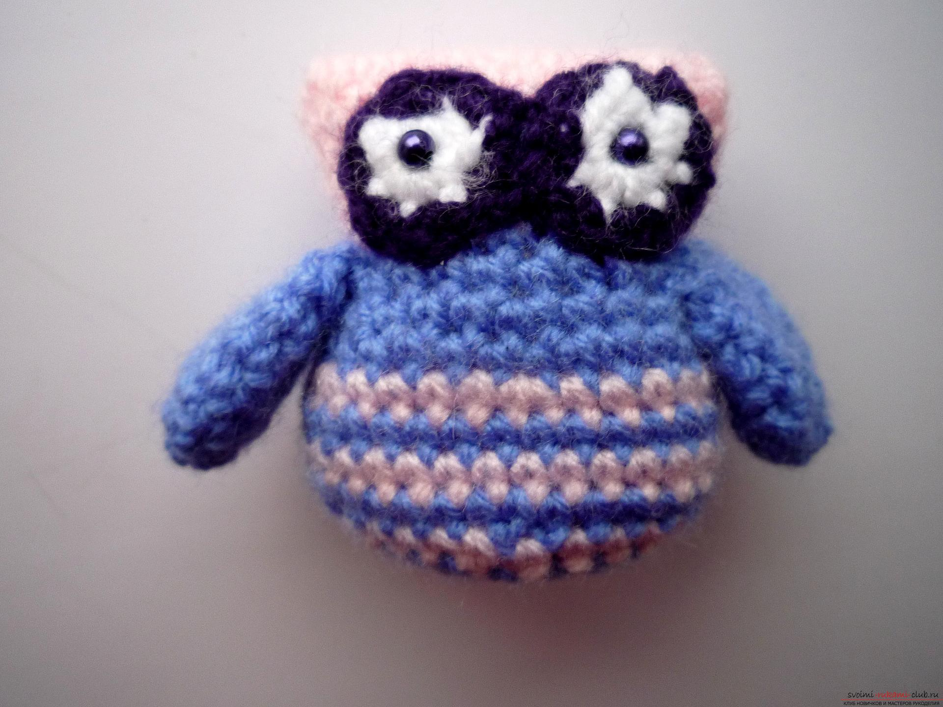 A detailed master-class will teach how to crochet a toy - an amenity in the amigurumi style. Photo №13
