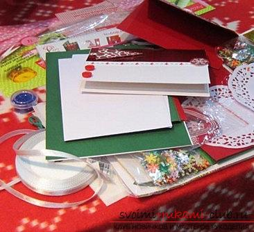 New Year scrapbooking with their own hands - a technique for beginners craftsmen. Photo №1