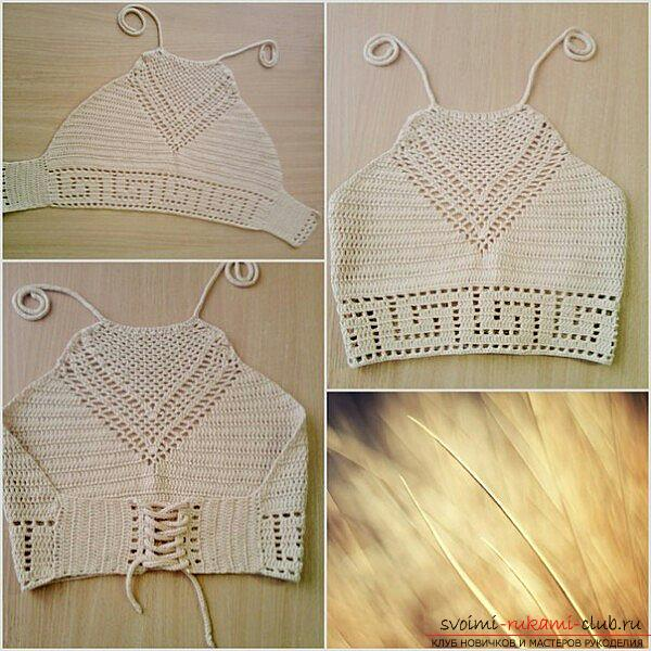 White cotton-top made from yarn Vita cotton Lily. Picture №3
