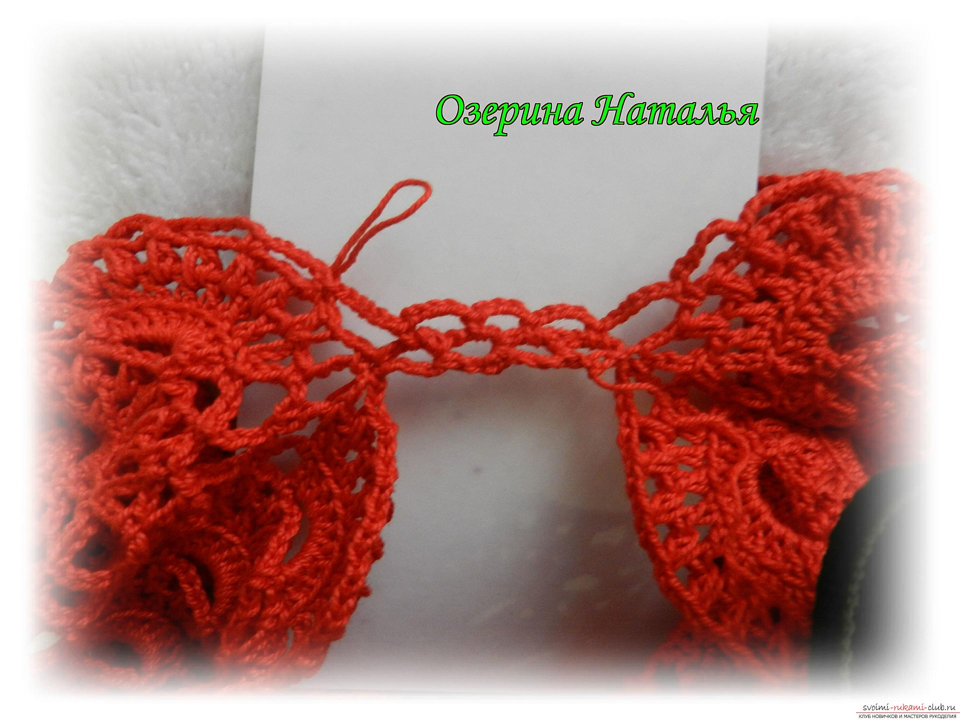 A detailed master-class with a photo will tell you how to tie a set for a girl with a crochet. Photo number 12
