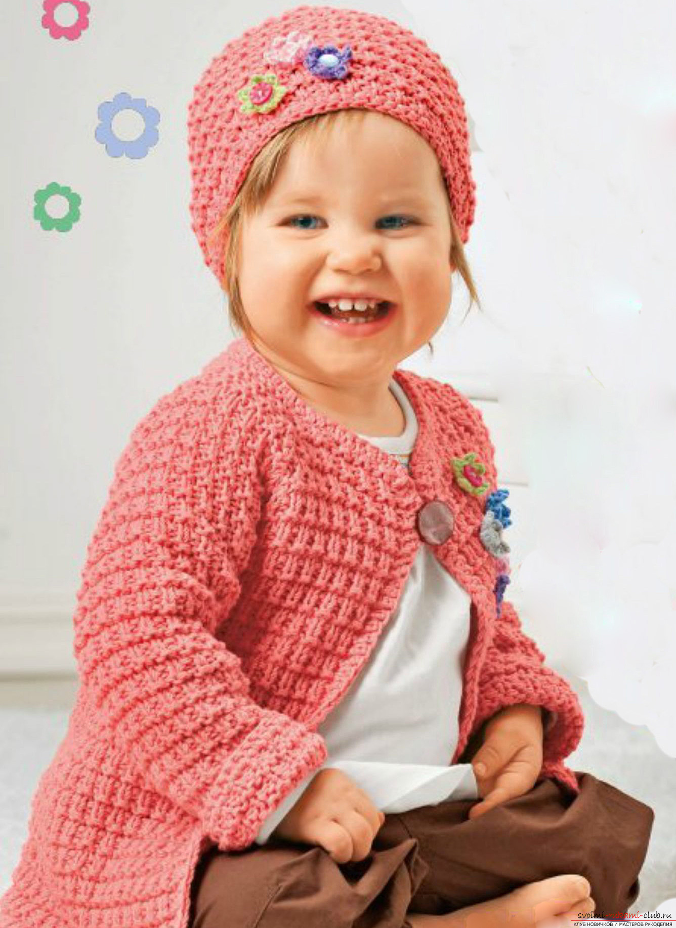 knitted winter hats for girls. Picture №3