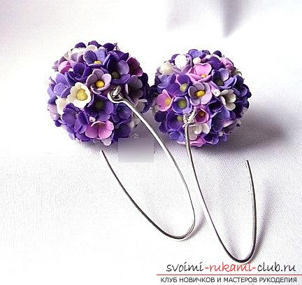 Earrings-flowers from polymer clay with their own hands - a master class. Photo Number 9